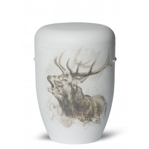 Biodegradable Cremation Ashes Funeral Urn / Casket – BUCK (Deer Season)