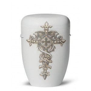 Biodegradable Cremation Ashes Funeral Urn / Casket – GOTHIC CROSS (Because You Are)