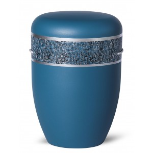 Biodegradable Cremation Ashes Funeral Urn / Casket – MARINE BLUE