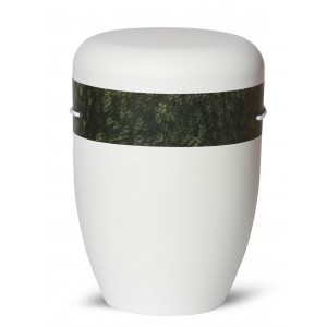 Biodegradable Cremation Ashes Funeral Urn / Casket – ANTIQUE GREEN & WHITE