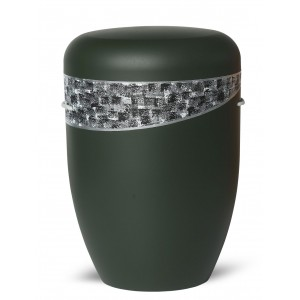 Biodegradable Cremation Ashes Funeral Urn / Casket – DARK GREEN BANDEROLE