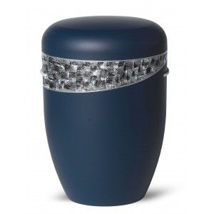 Biodegradable Cremation Ashes Funeral Urn / Casket – DARK BLUE BANDEROLE