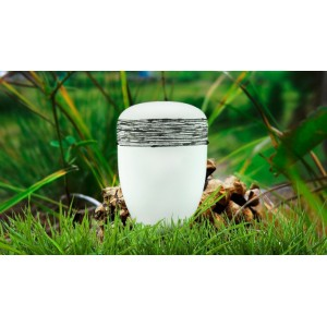 Biodegradable Cremation Ashes Funeral Urn / Casket - WHITE PURITY