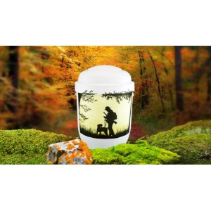 Biodegradable Cremation Ashes Funeral Urn / Casket - GUNDOG