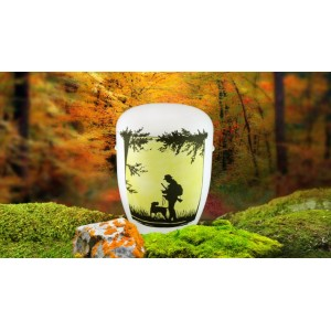 Biodegradable Cremation Ashes Funeral Urn / Casket - HUNTER & DOG
