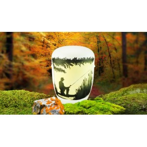 Biodegradable Cremation Ashes Funeral Urn / Casket - ANGLING / FISHING