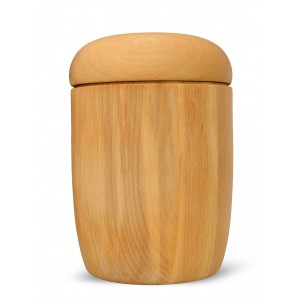 High Quality Hardwood (Beech) Cremation Ashes Urn - THE ALBURY