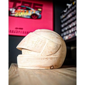 Hand Crafted Wooden Cremation Ashes Urn – Custom Made Motorcycle / Motorbike Riders Helmet