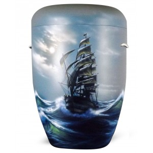 Biodegradable Cremation Ashes Funeral Urn / Casket – STORM OF THE SEAS (CLASSIC SAILING SHIP)