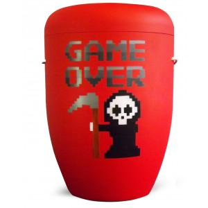 Biodegradable Cremation Ashes Funeral Urn / Casket – GAME OVER