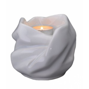 Our Holy Mother Eternal Flame - Ceramic Cremation Ashes Candle Holder Keepsake – White
