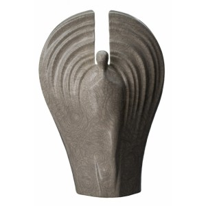 Eternal Guardian - Ceramic Cremation Ashes Urn - Craquelure