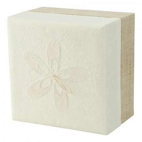 Biodegradable Cremation Ashes Urn / Casket - White Hemp Embrace Earthurn (Adult Size) - Eco Urns