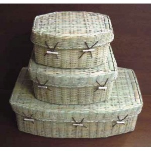 Biodegradable Bamboo Pet Casket. Available in a number of sizes.