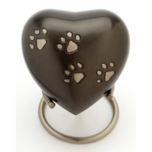 "Heart 3"" Pet Keepsake (Brown)"