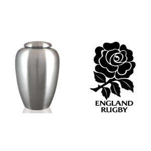 World Rugby Team Cremation Ashes Urn – Engraved Logo – England – Swing Low Sweet Chariot