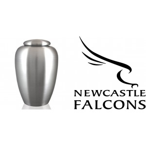 UK Rugby Team Cremation Ashes Urn – Engraved Logo – Newcastle Falcons