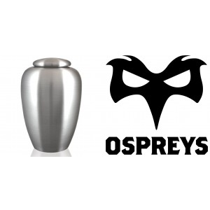 UK Rugby Team Cremation Ashes Urn – Engraved Logo – Ospreys – Ruck and Roll