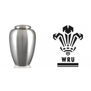 World Rugby Team Cremation Ashes Urn – Engraved Logo – Wales – as long as WE BEAT THE ENGLISH