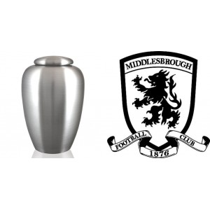 UK Football Team Cremation Ashes Urn – Engraved Logo – Middlesbrough FC – The Boro