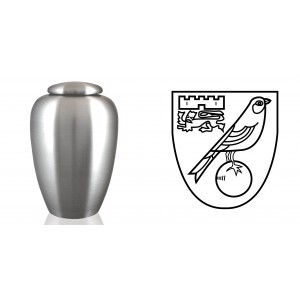 UK Football Team Cremation Ashes Urn – Engraved Logo – Norwich City – The Canaries
