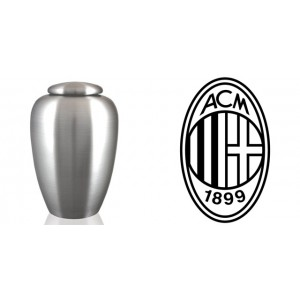 European / Italy / Italian Football Team Cremation Ashes Urn – Engraved Logo – A C Milan