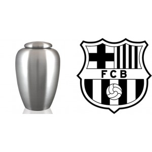 European / Spain / Spanish Football Team Cremation Ashes Urn – Engraved Logo – F C Barcelona
