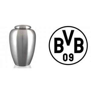 European / Germany / German Football Team Cremation Ashes Urn - Engraved Logo - Borussia Dortmund