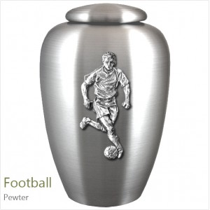 The English Pewter Cremation Ashes Urn – Football Player / Supporter – Solid Pewter Adornment