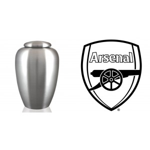 UK Football Team Cremation Ashes Urn – Engraved Logo – Arsenal – Victoria Concordia Crescit