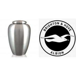 UK Football Team Cremation Ashes Urn – Engraved Logo – Brighton & Hove Albion – The Seagulls