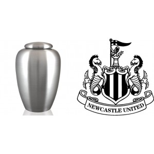 UK Football Team Cremation Ashes Urn – Engraved Logo – Newcastle United – Toon Army