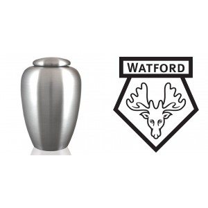 UK Football Team Cremation Ashes Urn – Engraved Logo – Watford FC – The Golden Boy's