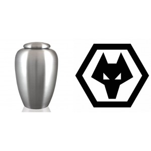 UK Football Team Cremation Ashes Urn – Engraved Logo – Wolverhampton Wanderers - Wolves