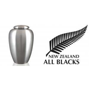 World Rugby Team Cremation Ashes Urn – Engraved Logo – New Zealand All Blacks - Kia Kaha