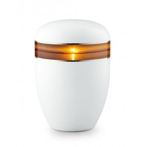 Biodegradable Urn (White with Sunset Border)