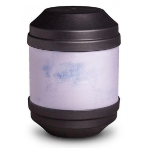 Biodegradable Cremation Ashes Urn with Writable Surface (Black)