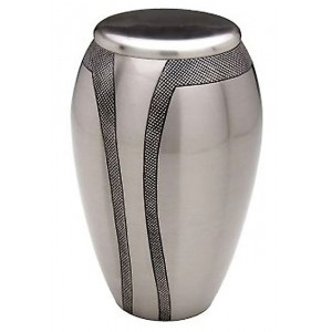 Brass Urn (Silver with Engraving)
