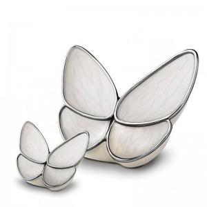 Brass Cremation Ashes Urn - Premium Quality – Butterfly with Large White Wings - **FINAL STOCK**