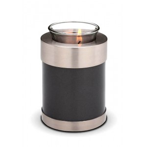 Pet Candle Holder Keepsake (Black & Silver)