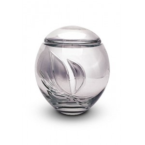 High Quality Bohemian Crystal Urn (Silver)