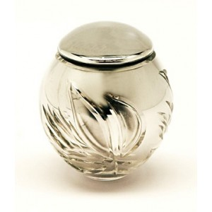 High Quality Bohemian Crystal Keepsake - Miniature Urn - (Silver)
