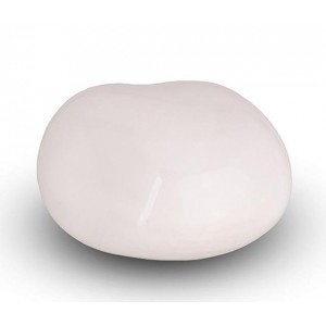 Cremation Ashes Keepsake / Miniature Urn – Huggable Cuddle Stone (White High Shine)