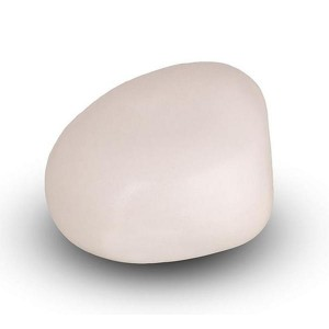 Cremation Ashes Keepsake / Miniature Urn – Huggable Cuddle Stone (White Matt)