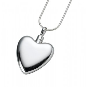 Large Sterling Silver Heart Pendant