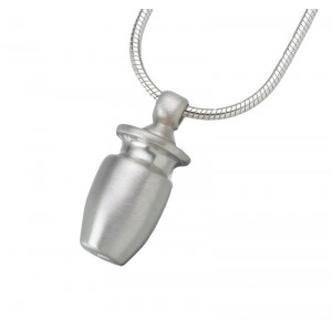 Small Sterling Silver Urn Pendant