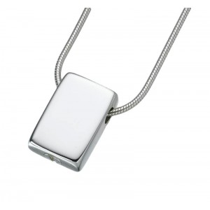 Sterling Silver Slide Rectangle Pendant