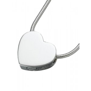 Sterling Silver Double Chamber Slide Heart Pendant