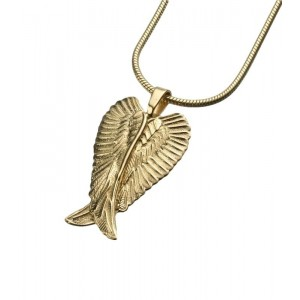 Gold Vermeil Angel Wings Pendant