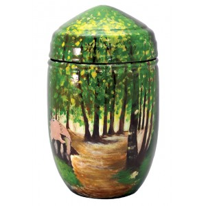 Glass Fibre Urn (Woodland Scene Design)